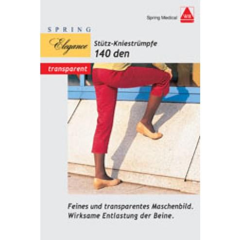Stütz Knie-Strümpfe Fein 140den sand Größe 40/41