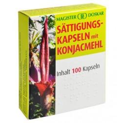 Doskar Sättigungskapseln mit Konjacmehl 100 Stück