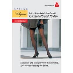 Stütz Schenkel-Strümpfe 70den sand Größe 39/40