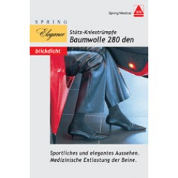 Baumwoll-Kniestrümpfe für Damen 280den schwarz Größe 39/40