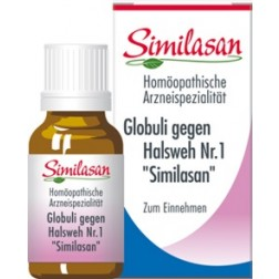 Globuli Similasan gegen Halsweh Nr. 1