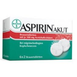 Aspirin Akut Migräne Brausetabletten 12 Stück