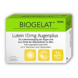 Biogelat Lutein 10mg AugenPlus Kapseln