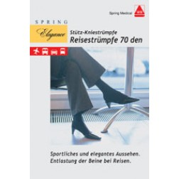 Damen-Strümpfe für die Reise 70den sand Größe 38/39