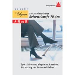 Damen-Strümpfe für die Reise 70den schwarz Größe 38/39