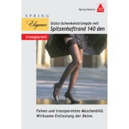 Stütz Schenkel-Strümpfe 140den schwarz Größe 42/43