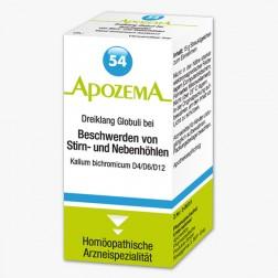 Apozema Dreiklang Globuli Nr. 54 Kalium bichromicum D4/D6/D12 - bei Beschwerden von Stirn- und Nebenhöhlen