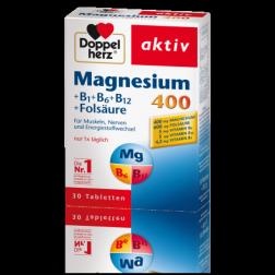 Doppelherz Magnesium 400+B1, B6,B12+Folsäure