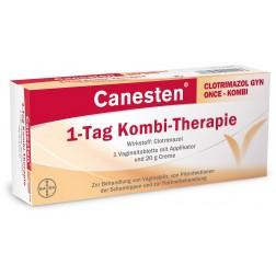CANESTEN  CLOTRIMAZOL   GYN/ONCE KOMBI 1 VAG.TBL +20G CREME +APPLIKATOR