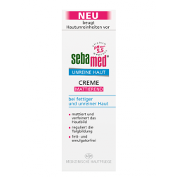 Sebamed Unreine Haut Mattierende Creme 50ml