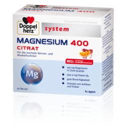 Doppelherz Magnesium 400 Citrat-20 Stück
