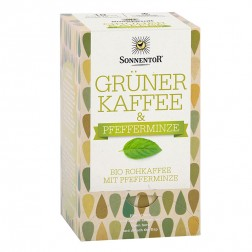 Sonnentor Grüner Kaffee-Pfefferminze bio, Doppelkammerbeutel