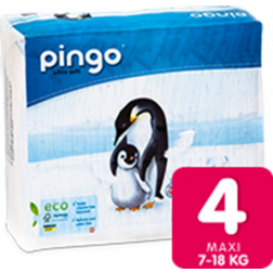 Bio Windeln Maxi 7-18kg Pinguin ? Pingo Swiss 40Stk.