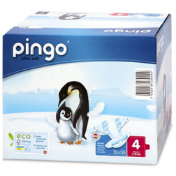 Bio Windeln Maxi Jumbo 7-18kg Pinguin ? Pingo Swiss 80Stk.