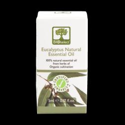 Bioselect Eucalyptus Natural Essential Oil Certified Organic 5ml