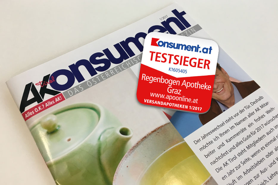 Testsieger Konsument 01/2017 - APOonline.at